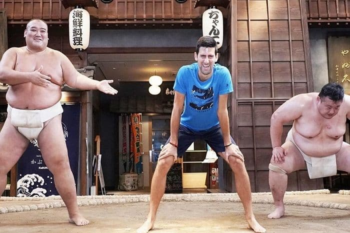 tennis, Novak Djokovic, Japan Open, sumo wrestling