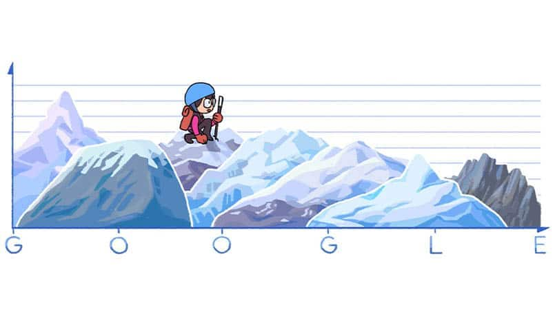 Google Doodle celebrates 80th birthday of Junko Tabei; first woman to climb Everest