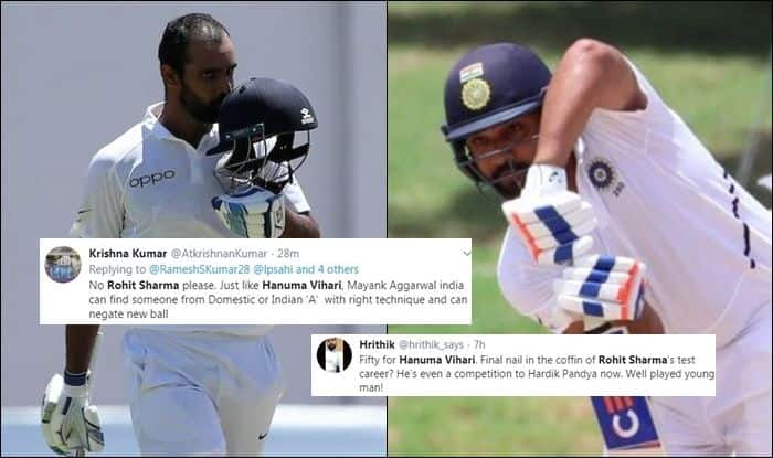 Hanuma Vihari, Hanuma Vihari century, Hanuma Vihari maiden Test century, Hanuma Vihari ton, Hanuma Vihari records, Rohit Sharma, India vs West Indies, Rohit Sharma records, Indian Cricket Team, Team India, Jamaica, Ind vs WI, WI vs Ind