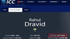 Are You Drunk? Fans Slam ICC For Calling 'Hall of Famer' Dravid Left-Handed on Official Website
