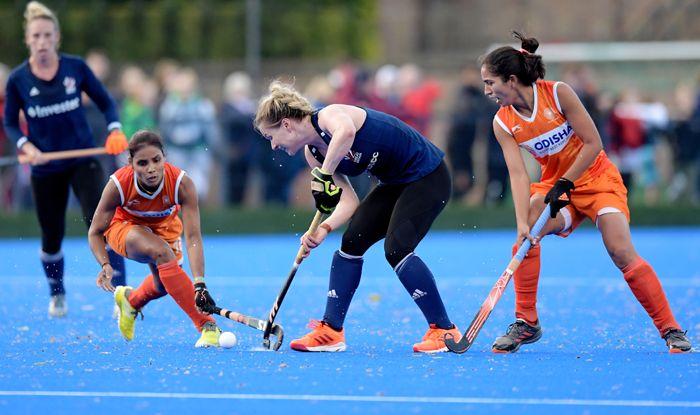 India hockey women team vs great britain hockey team