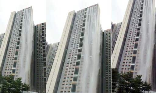 Cuffe Parade Skyscrapper Turns Into Waterfall, Thanks to Mumbai Rains