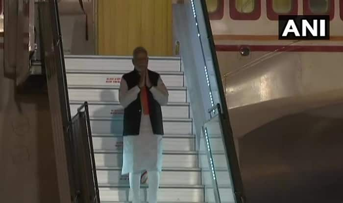 PM Modi Arrives at Palam Airport, Receives Grand Welcome of 50,000 People