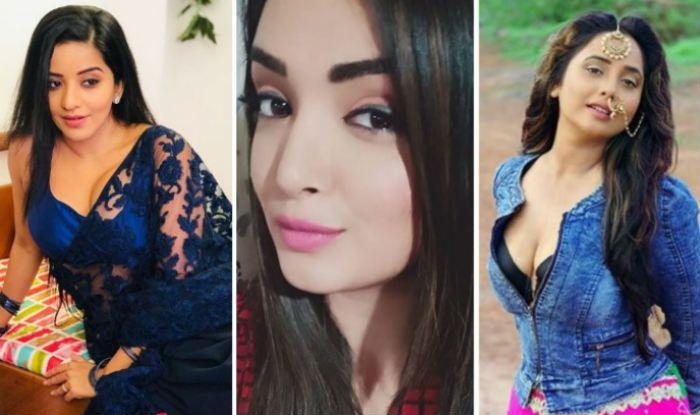 Monalisa, Amrapali Dubey, Rani Chatterjee (L-R)