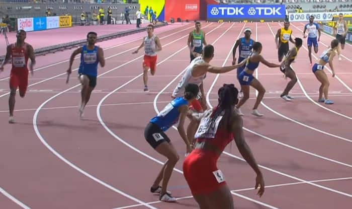 Indian athletes 4X400m relay 2019 world athletics