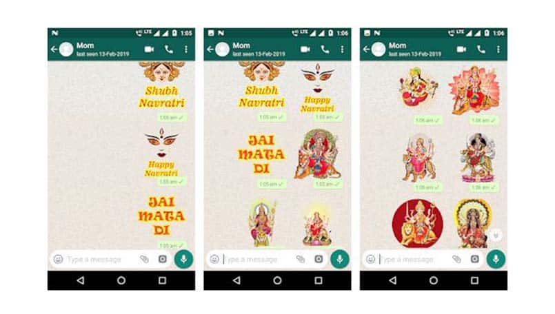 Navratri 2019: How to download and send WhatsApp Stickers for Navratri