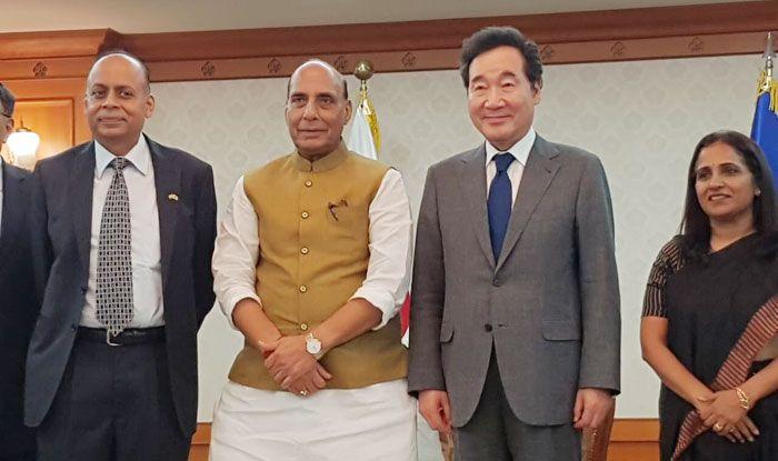 Rajnath Singh, South Korea, India, Defence industry, Wang Jung-hong