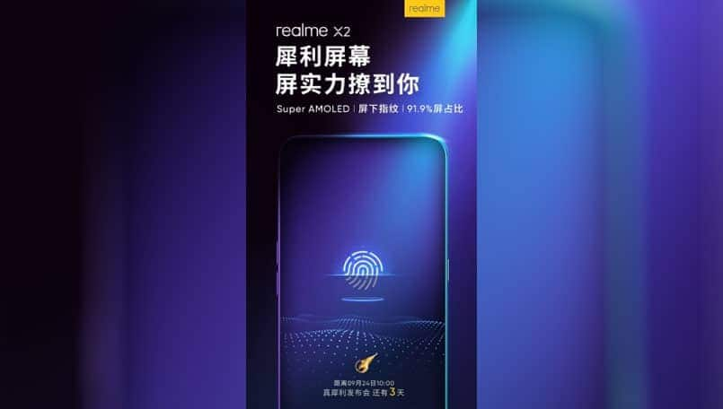 Realme X2 to feature Super AMOLED screen with Under Display fingerprint scanner