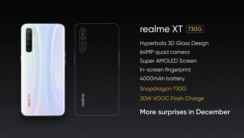 Realme XT 730G gaming smartphone announced; to launch in December in India