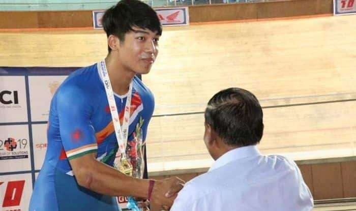 Ronaldo Laitonjam, Track Asia Cup 2019, Track Asia Cup, Ronaldo Laitonjam creates junior Asia record, Ronaldo Laitonjam creates Asian record, Ronaldo Laitonjam Cycling, India's Ronaldo Laitonjam, Asia Cup Cycling, Track Events, Cycling, Sports News