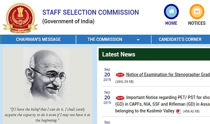 SSC Stenographer Notification 2019 Released on ssc.nic.in | Click Here For More Details