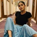 Haryanvi Bombshell Sapna Choudhary Makes a Style Statement in Black Crop Top And Long Skirt