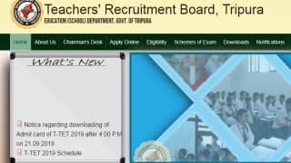 Tripura TET Admit Card 2019 Released on trb.tripura.gov.in | Check Here For More Details