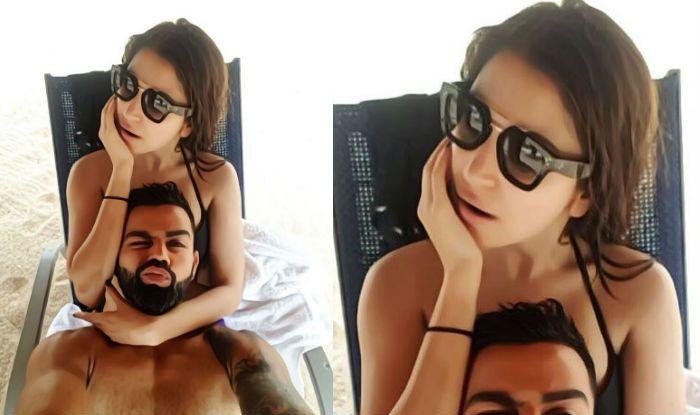 Virat Kohli, Anushka Sharma, Virat Kohli-Anushka Sharma Holiday Selfie, Virushka Holiday Selfie, Kohli-Anushka New Pictures, Kohli crazy expression in new pic with wife Anushka, Kohli-Anushka Latest Instagram Selfie, Kohli-Anushka New Picture on Instagram, Team India, Kohli shower love on wife Anushka in latest selfie, Kohli-Anushka latest selfie, Kohli-Anushka beach picture, Cricket News