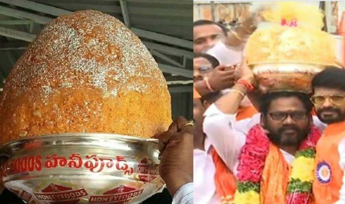 Hyderabad's Balapur Ganesh Laddu Weighing 21kgs Fetches Rs 17.6 Lakh in Auction, Prasad Gets Highest Bid in Ganpati Visarjan 2019