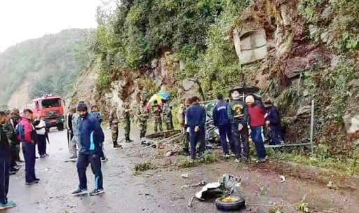 Two Pilots Killed as Army's Helicopter Crashes in Bhutan