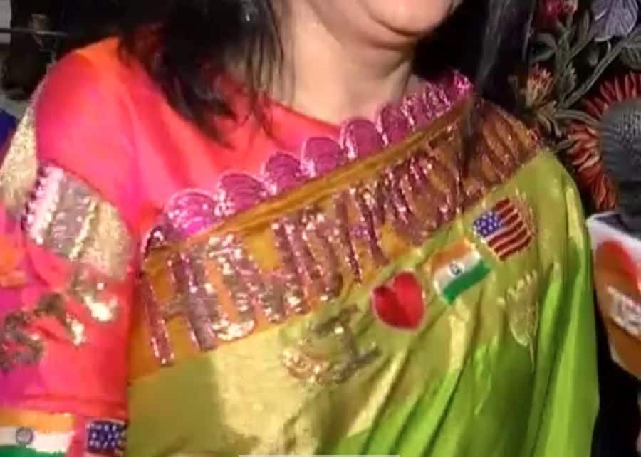 PM in Houston: How Cool is This 'Howdy, Modi' Saree Made in Hyderabad!