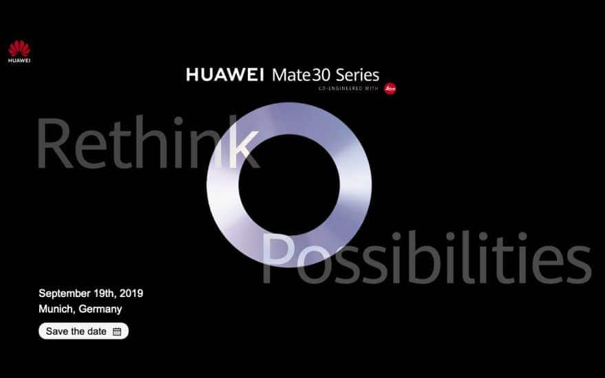 Huawei Mate 30, Mate 30 Pro launch officially confirmed for September 19