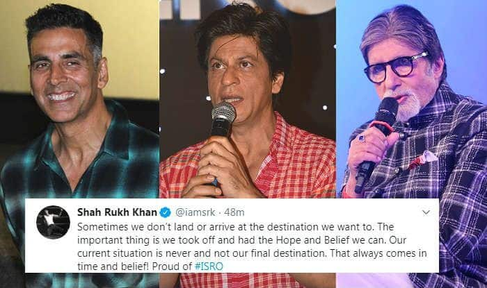 Chandrayaan-2: Shah Rukh Khan, Big B, Akshay Kumar And Others Hail ISRO For Attempting The Unbelievable