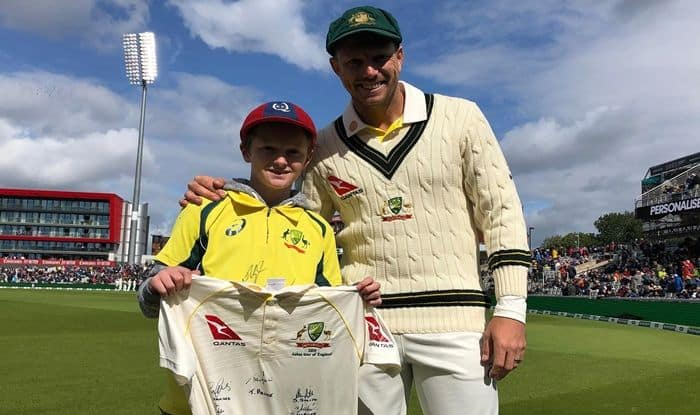 12-year-old boy who picked garbage to watch Ashes, 12-year-old Australian boy who picked garbage to watch Ashes in England, 12-year-old Australian picked garbage bins to travel to England to watch Ashes, Ashes 2019, England vs Australia, England vs Australia Ashes 2019, 12-year-old boy picked garbage for four years to watch Ashes, James Pattinson, Steve Smith, Pat Cummins, Steve Waugh, Justin Langer