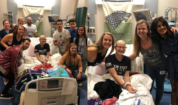 The Jonas Brothers And Priyanka Chopra Surprise Fan Who's Suffering From Cancer – Pics go Viral