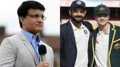 Virat Kohli is World's Best Cricketer But Steve Smith's Record Are Phenomenal: Sourav Ganguly