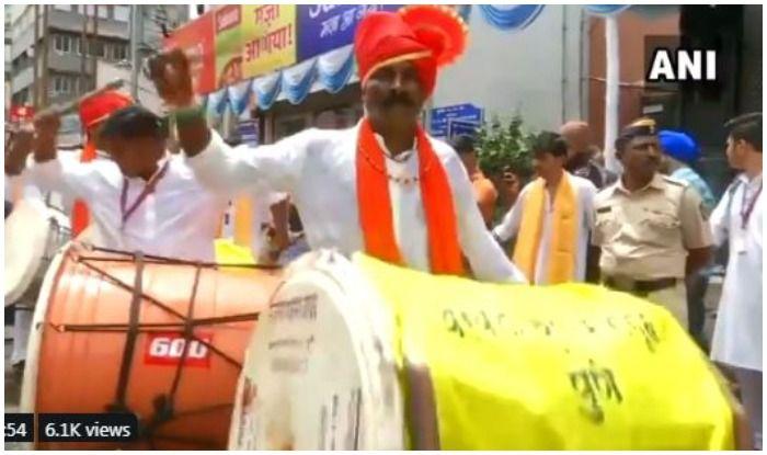 Maha jail Inmates' Troupe Plays Drums at Pune Ganpati Mandal- Watch