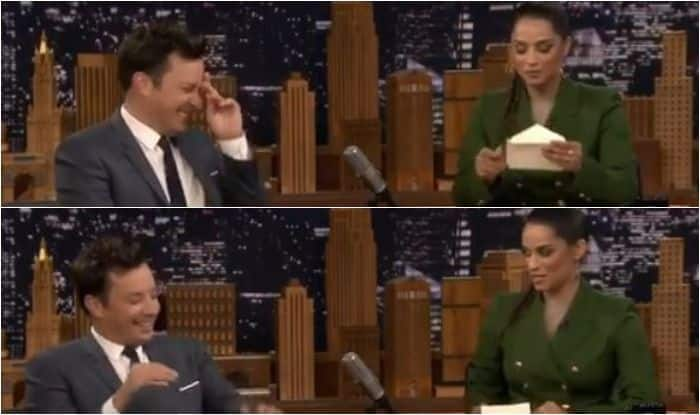 Lilly Singh with Jimmy Fallon on NBC's A Little Late With Lilly