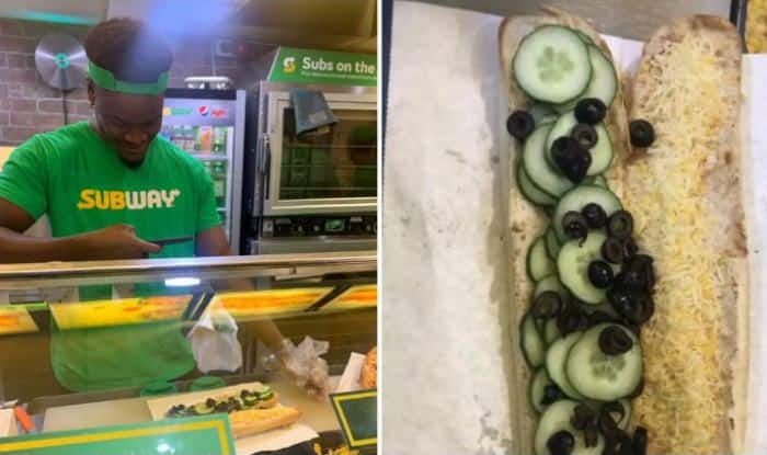 Woman's subway order