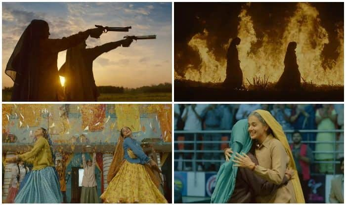 Taapsee Pannu and Bhumi Pednekar in stills from the trailer of Tushar Hiranandani-directorial, Saand Ki Aankh