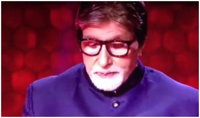 Amitabh Bachchan in Monday's episode of Kaun Banega Crorepati