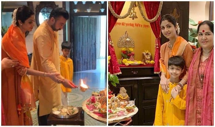 Shilpa Shetty celebrates Navaratri with family