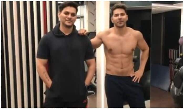 Varun Dhawan and his fitness trainer Prashant Sawant doing cardio to Tum Toh Thehre Pardesi song is the funniest thing on the Internet today