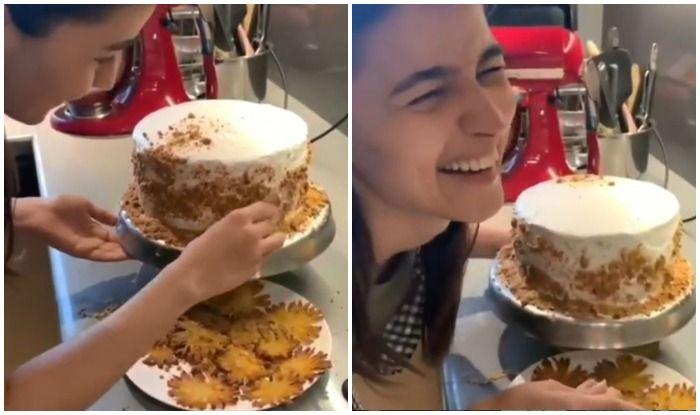 Alia Bhatt bakes Ranbir Kapoor's favourite pineapple cake on his birthday