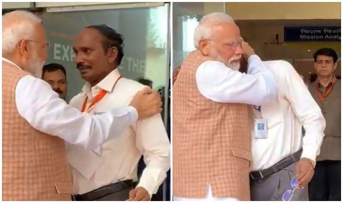 Chandrayaan-2 Landing Setback: PM Modi Hugs, Consoles ISRO Chief K Sivan After he Breaks Down in Tears   Watch