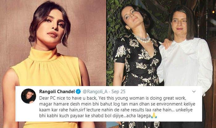 Rangoli Chandel Targets Priyanka Chopra, Asks Her to Focus on Indian Environmentalists After #HowDareYou Tweet