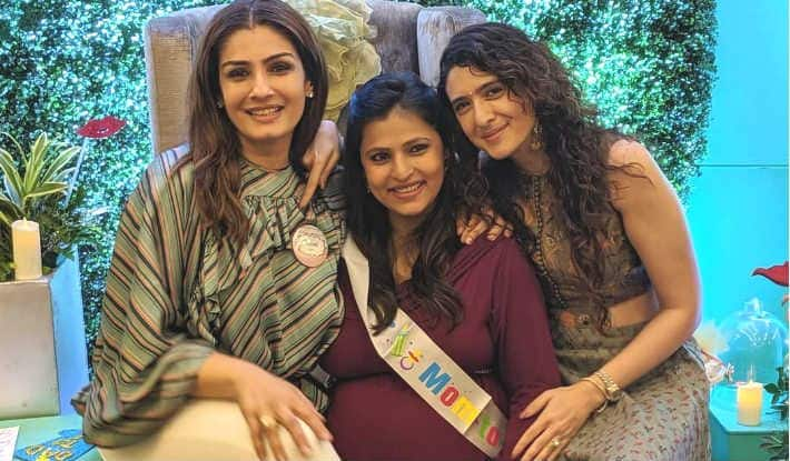 Raveena Tandon to Become Nani, Daughter Chhaya's Baby Shower Pics go Viral