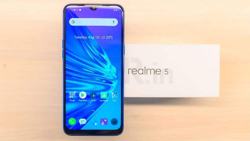Realme 5's latest software update brings August 2019 Android security patch and more