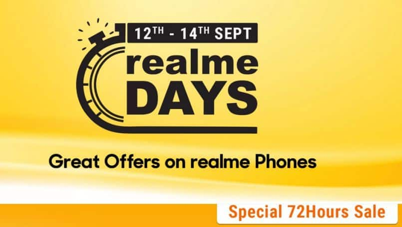 Realme Days sale on Flipkart: Offers on Realme 2 Pro, Realme 3, Realme 5 and more for 72 hours