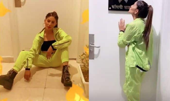 Haryanvi Bombshell Sapna Choudhary Strikes a Pose in a Neon Green Track Suit- Watch Videos