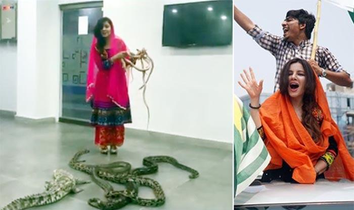 Famous Pak Singer Rabi Pirzada Plays With Snakes, Threatens PM Modi