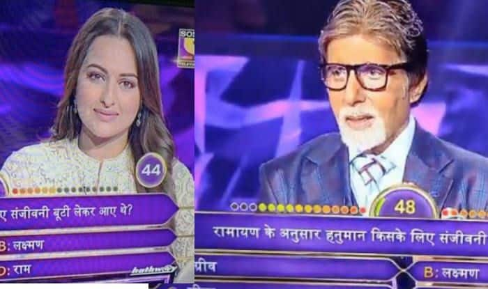 When Amitabh Bachchan Trolled Sonakshi Sinha For Her 'Ramayana'-Goof up on Kaun Banega Crorepati 11