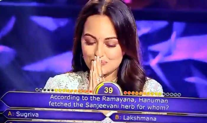 Sonakshi Sinha Trolled For Saying 'Hanuman Fetched Sanjeevani For Sita' on KBC 11