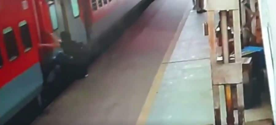 This is Why You Should Never Run After a Moving Train: Watch Horrific Video
