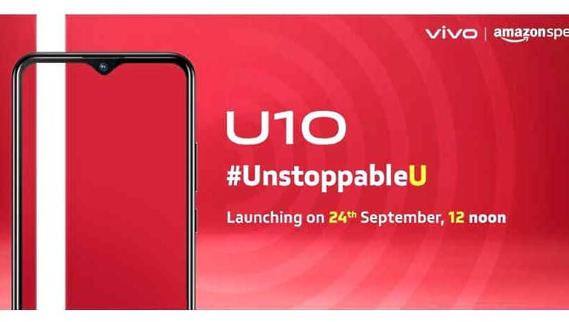 Vivo U10 with 18W fast charging launching on Amazon India on September 24