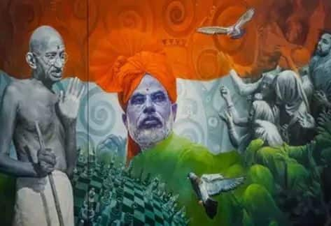 Painting of Mahatma Gandhi, PM Fetches Highest Bid of Rs 25 Lakh at E-Auction