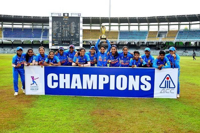 India Beat Sri Lanka to Win Women's Emerging Teams Asia Cup 2019, India win Women's Emerging Teams Asia Cup 2019, Cricket News, Devika Vaidya, Tanuja Kanwar