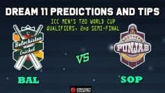 BAL vs SOP Dream11 Team Prediction: Balochistan vs Southern Punjab, 2nd Semifinal Pakistan National Cup