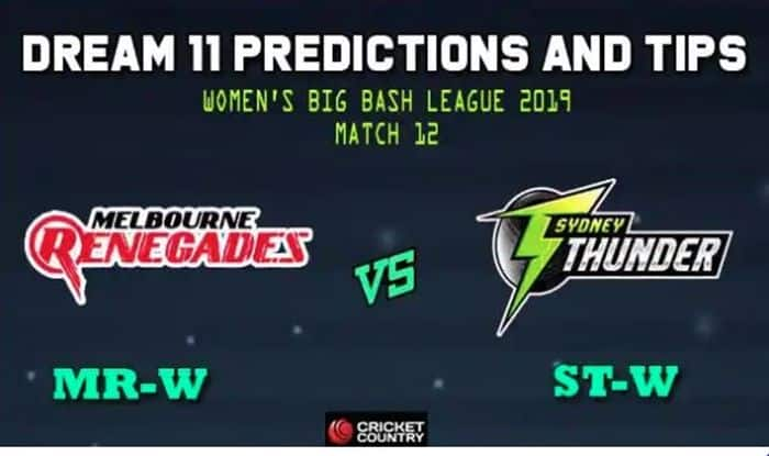 MR-W vs ST-W Dream11 Team, Sydney Thunder Women vs Melbourne Renegades Women Dream11 Prediction, Sydney Thunder Women vs Melbourne Renegades Women Dream11 Team Player List, MR-W Dream11 Team Player List, ST-W Dream11 Team Player List, Dream11 Guru Tips, Online Cricket Tips, Sydney Thunder Women vs Melbourne Renegades Women, Sydney Thunder Women vs Melbourne Renegades My Guru Tips, Women Cricket Tips And Predictions – MR-W vs ST-W, Cricket Fantasy Tips