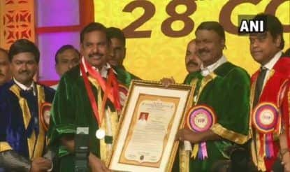 Tamil Nadu CM Edappadi K Palaniswami Receives Doctorate From Dr MGR Educational & Research Institute, Says 'My Responsibilities Are More Now'